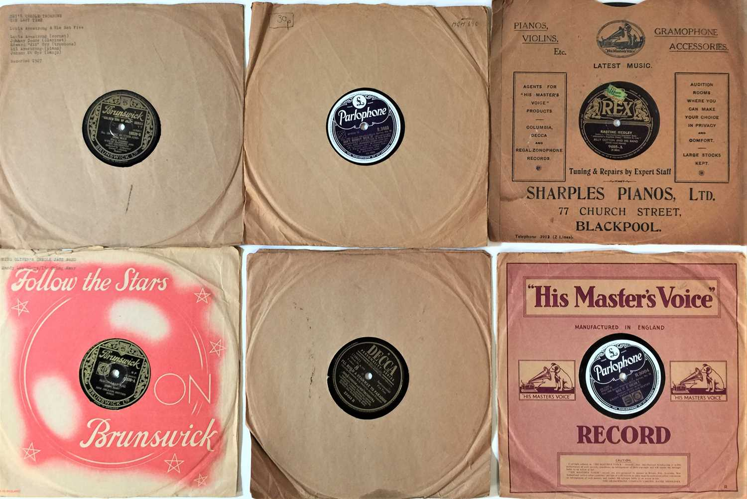 """JAZZ - 10"""" 78s (LARGE COLLECTION"""