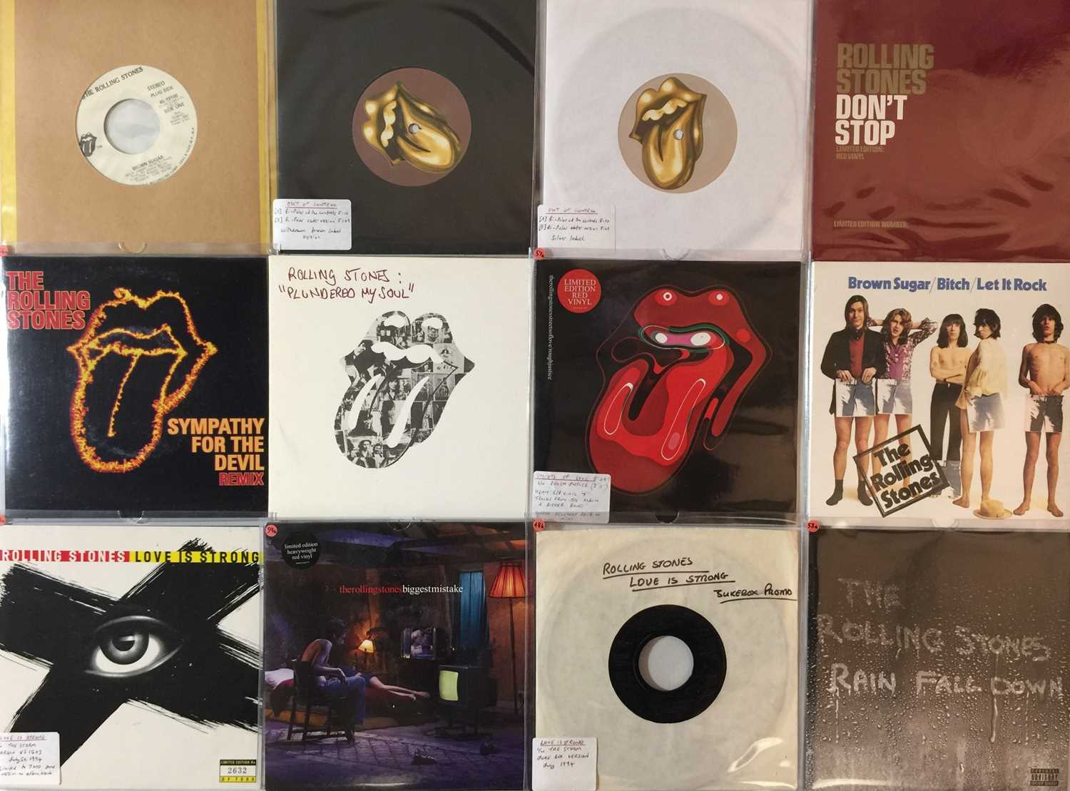 """THE ROLLING STONES - 7"""" COLLECTION (70s/2000s)"""