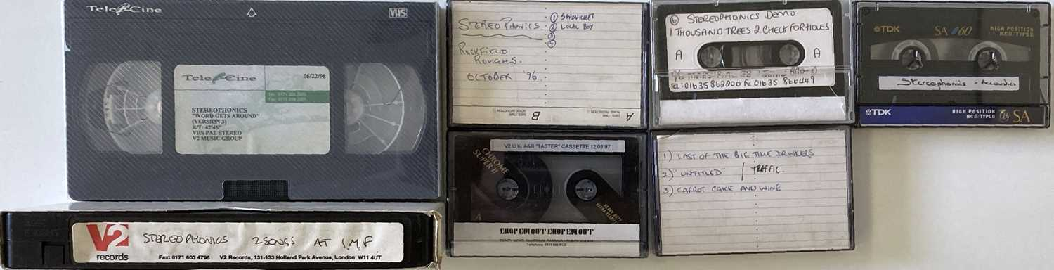 STEREOPHONICS 1990S PROMOTIONAL CASSETTES AND VHS.