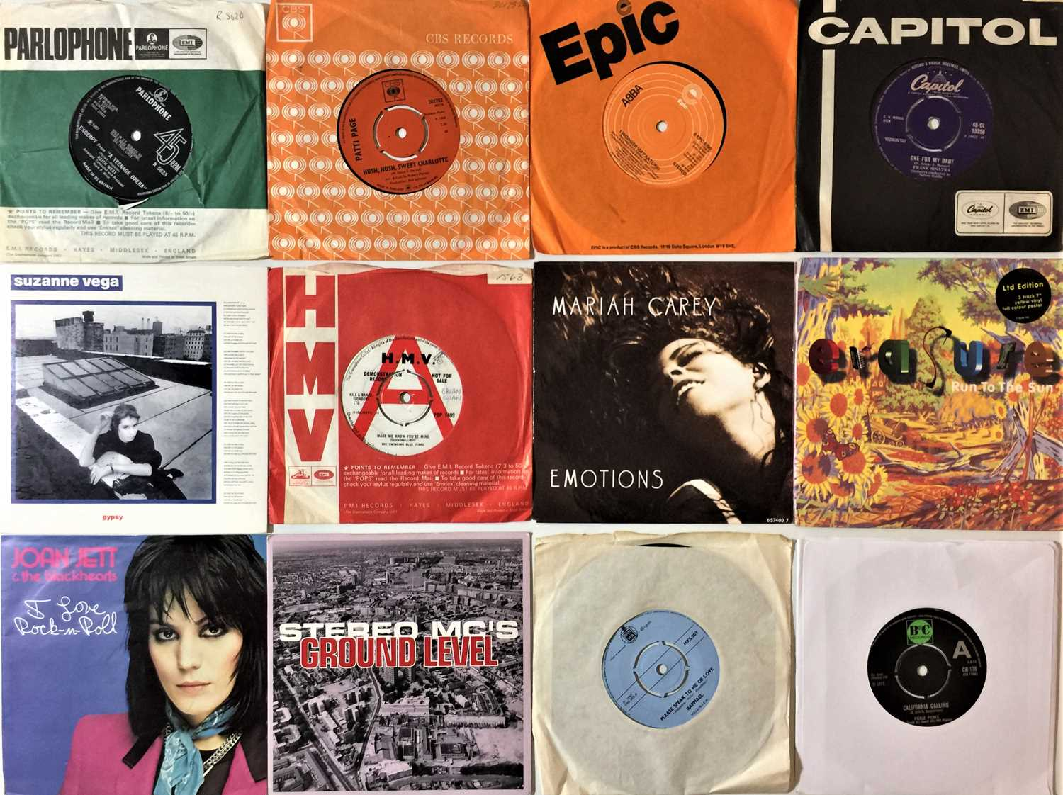 """CLASSIC ROCK & POP 7""""/EP COLLECTION (60s/90s) - Image 2 of 4"""
