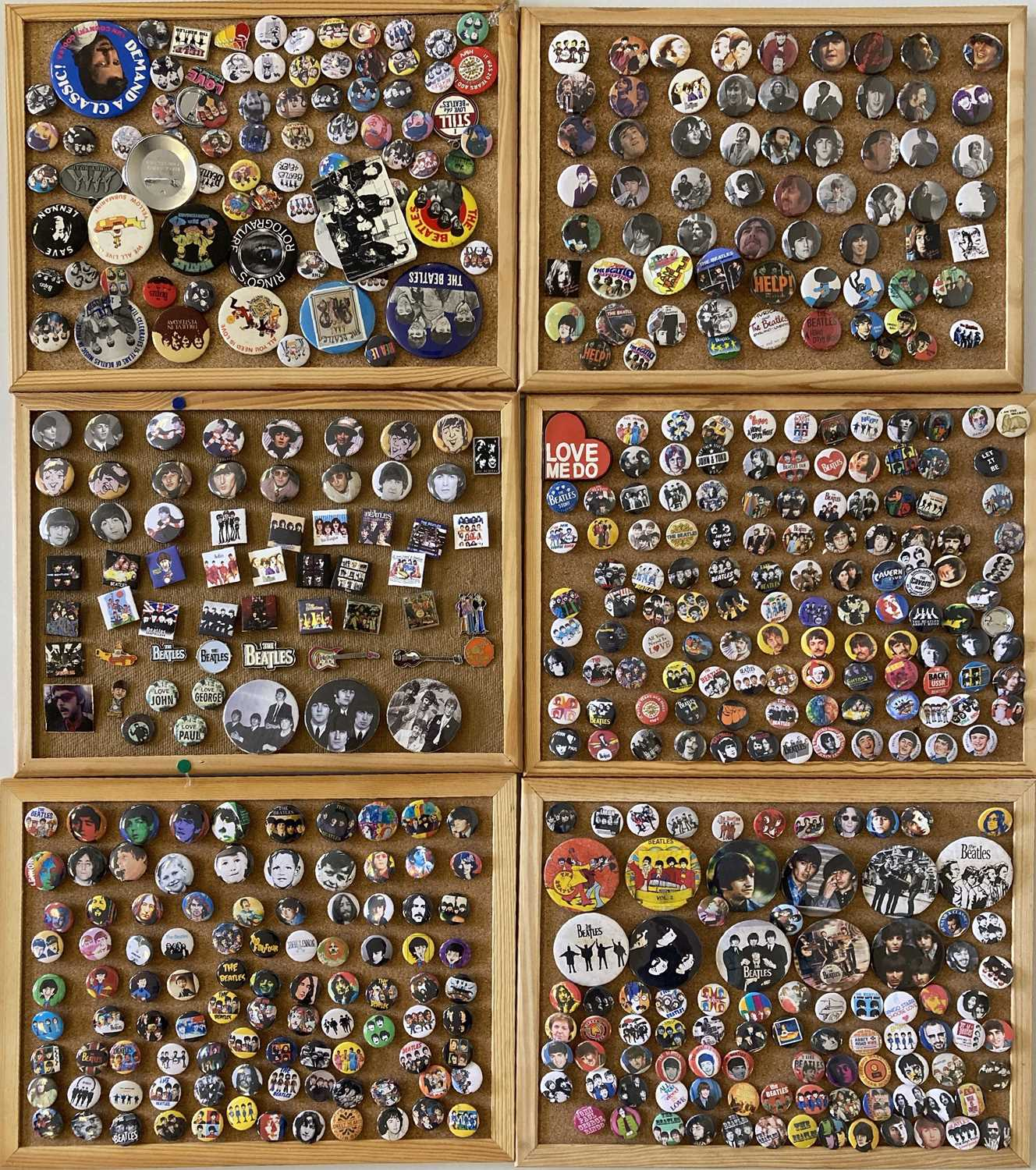 BEATLES BADGE COLLECTION.