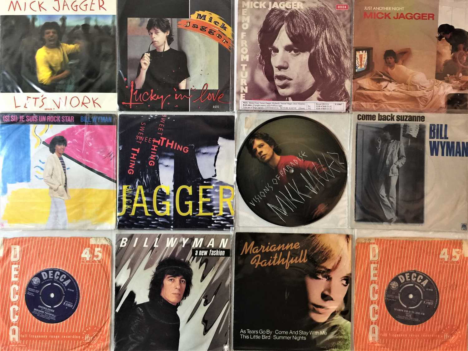"""THE ROLLING STONES & RELATED - 7"""" COLLECTION - Image 2 of 3"""