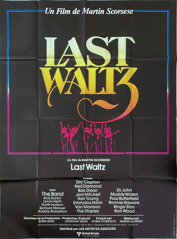 THE LAST WALTZ POSTER AND FILM STILLS.