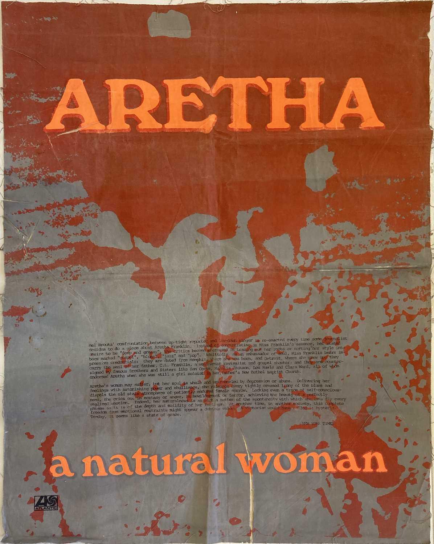 ORIGINAL ATLANTIC RECORDS ARETHA FRANKLIN - A NATURAL WOMAN FABRIC POSTER.