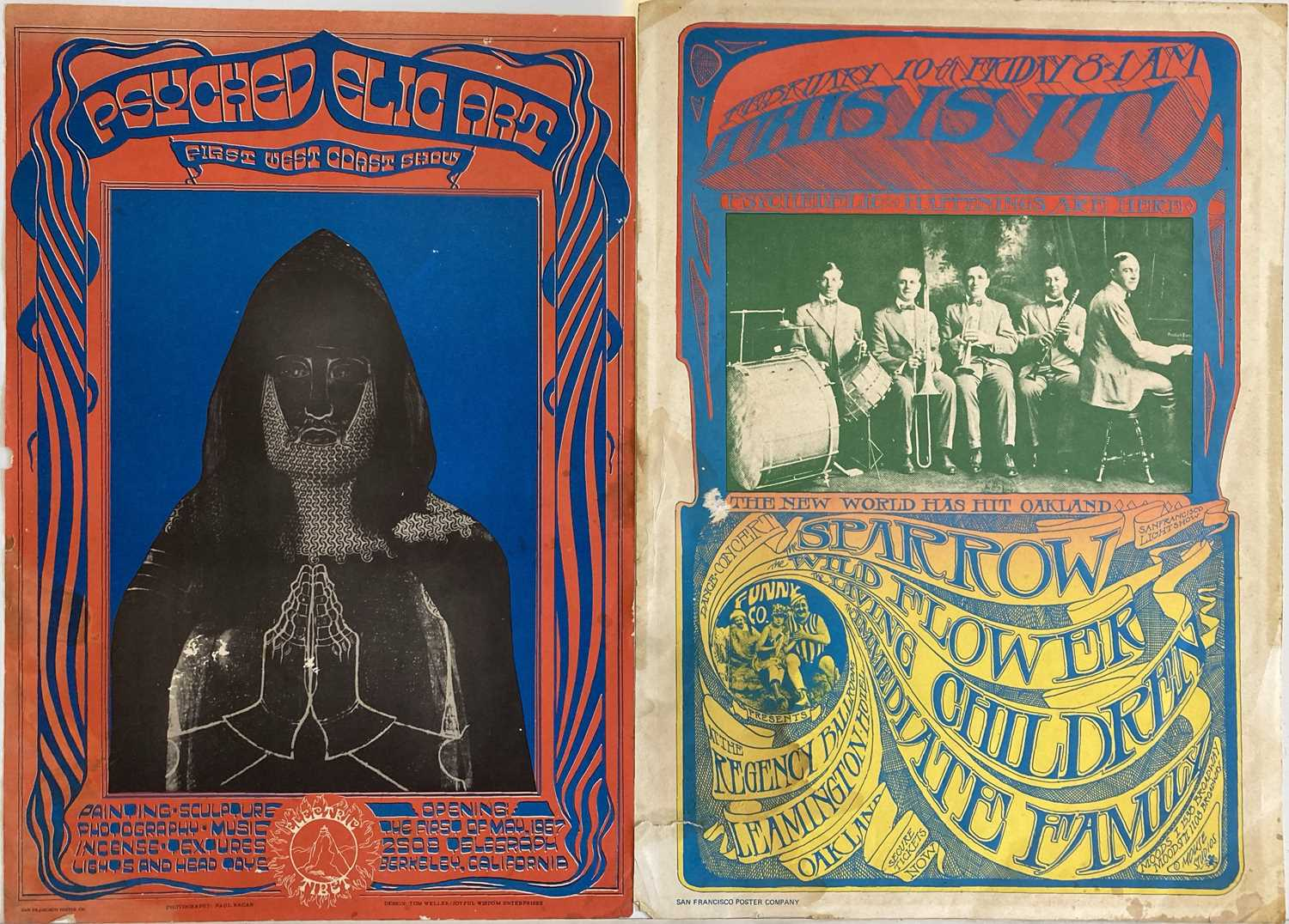 SAN FRANCISCO PSYCHEDELIC POSTERS.