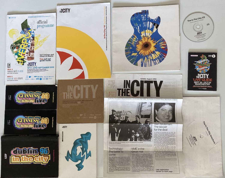 IN THE CITY 1996 - TONY WILSON - MEMORABILIA. - Image 2 of 3