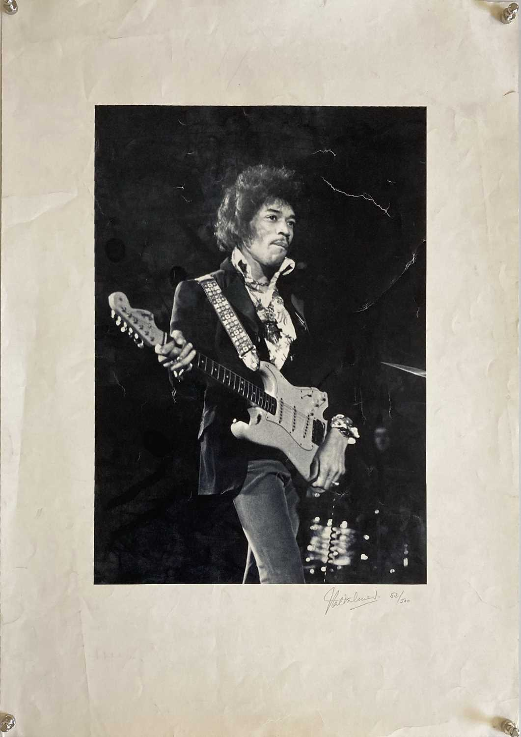 JIMI HENDRIX VAL WILMER SIGNED POSTER.