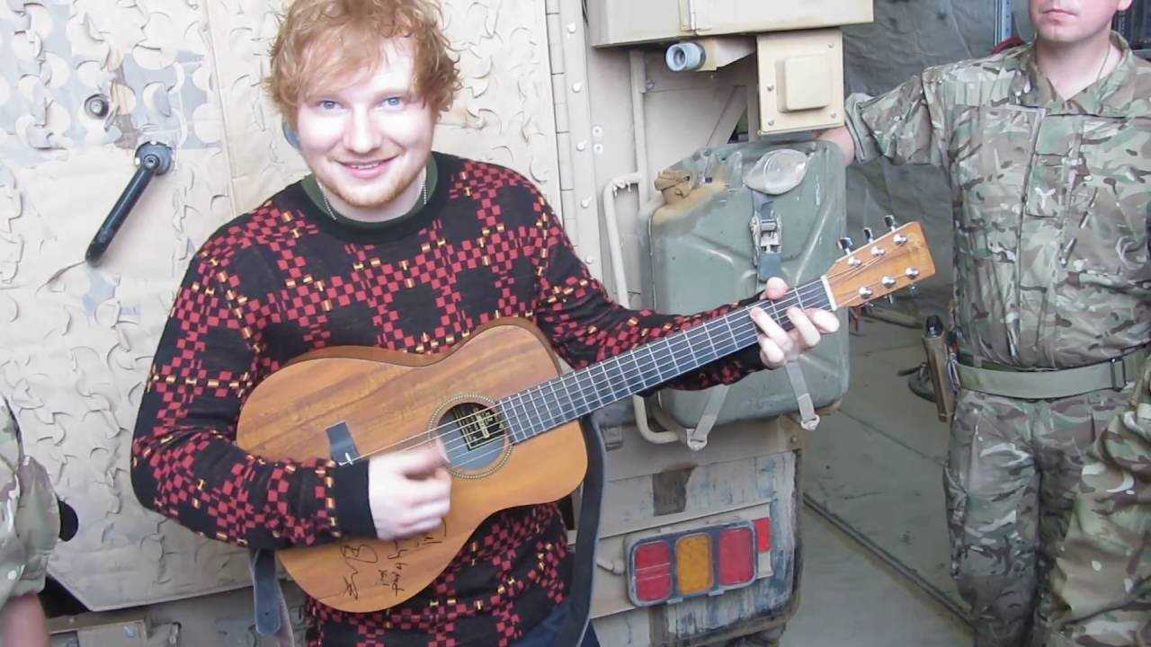 ED SHEERAN SIGNED AND USED GUITAR. - Image 2 of 7