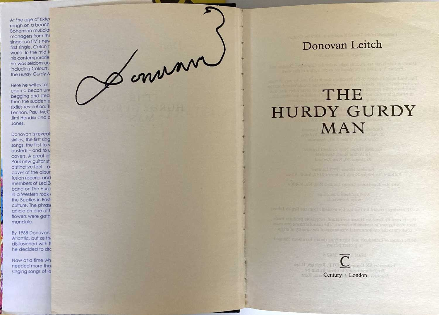 DONOVAN SIGNED ITEMS. - Image 4 of 5