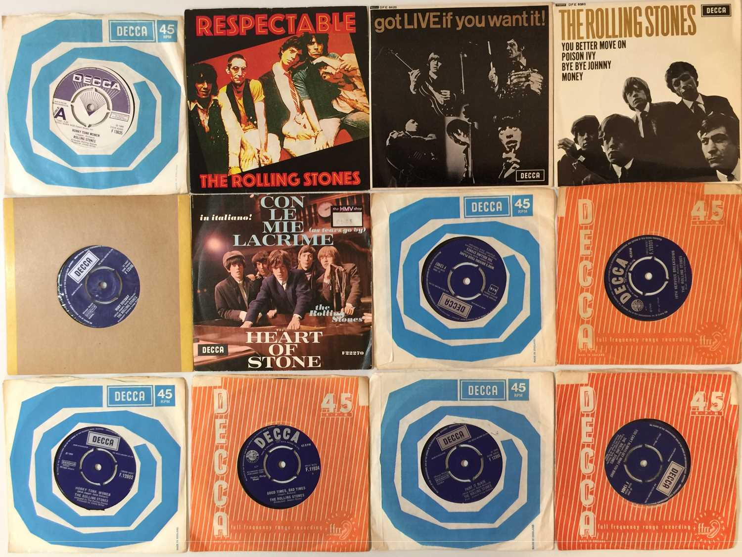 """THE ROLLING STONES AND RELATED - 7"""" PACK"""