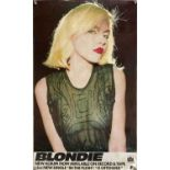 BLONDIE 1976 PROMOTIONAL POSTER.