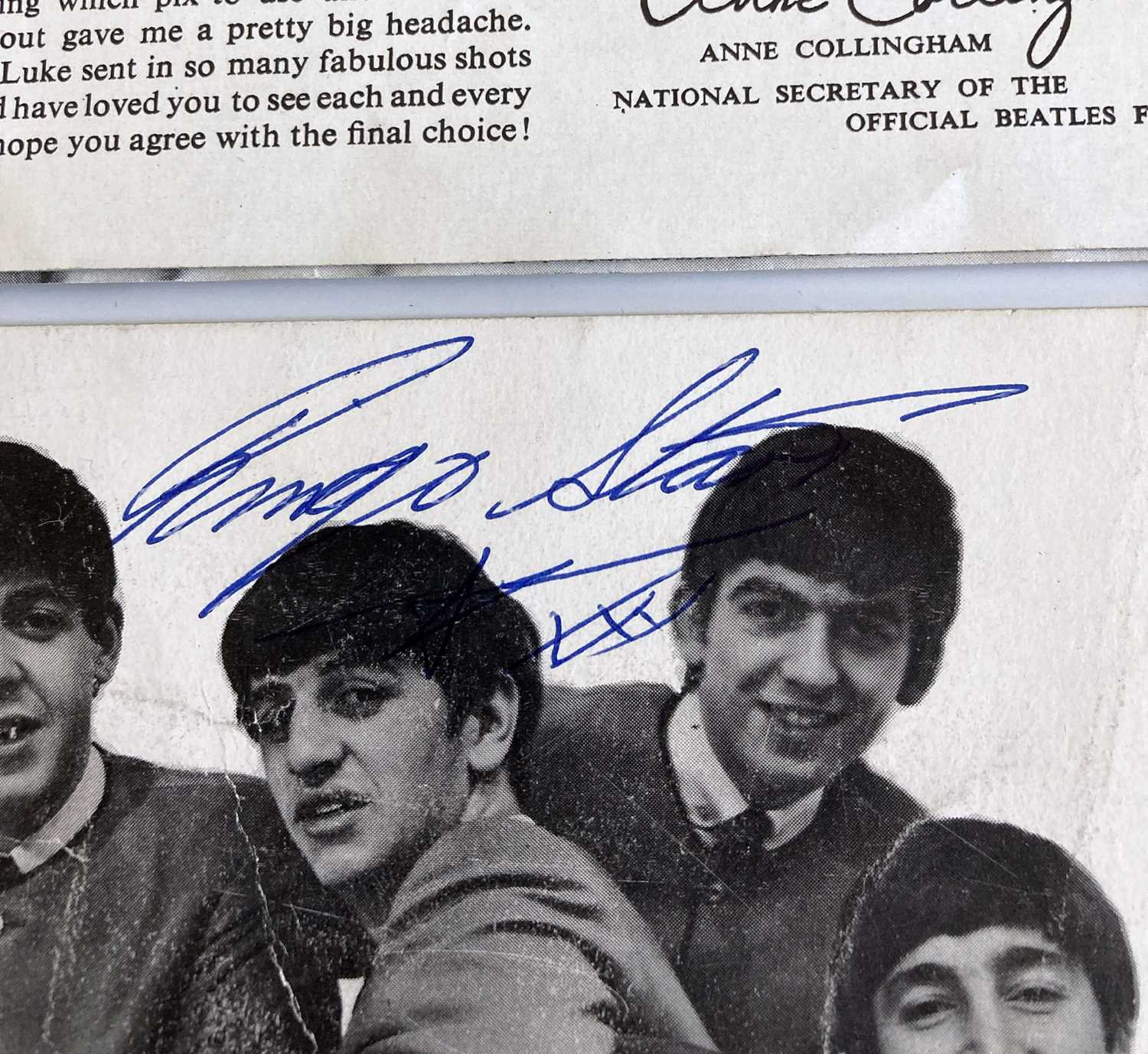THE GREAT POP PROM PROGRAMME - SIGNED RINGO STARR CARD. - Image 2 of 2