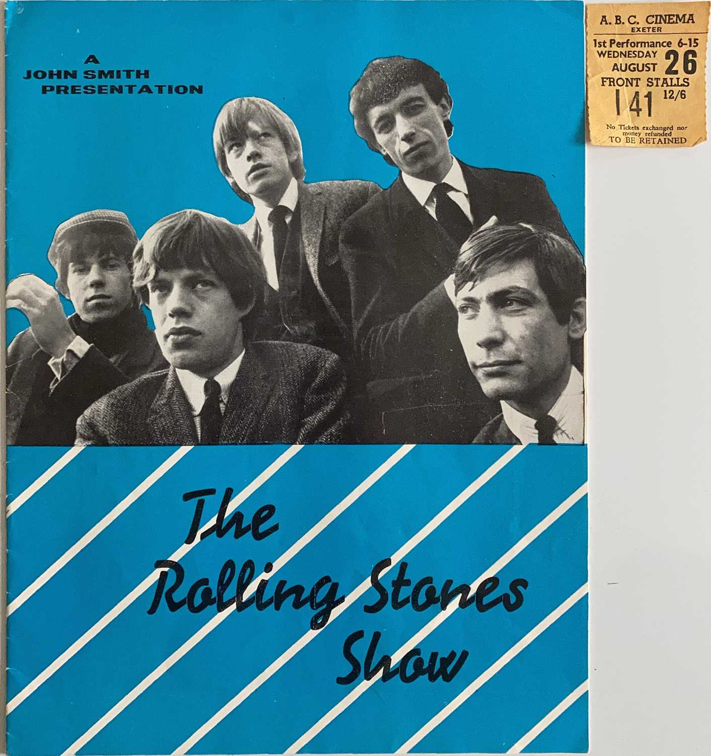 ROLLING STONES CONCERT PROGRAMME AND TICKET - 1964.