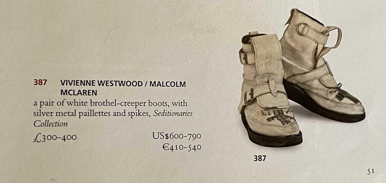SEDITIONARIES - VIVIENNE WESTWOOD / MALCOLM MCLAREN ORIGINAL BOOTS. - Image 4 of 4