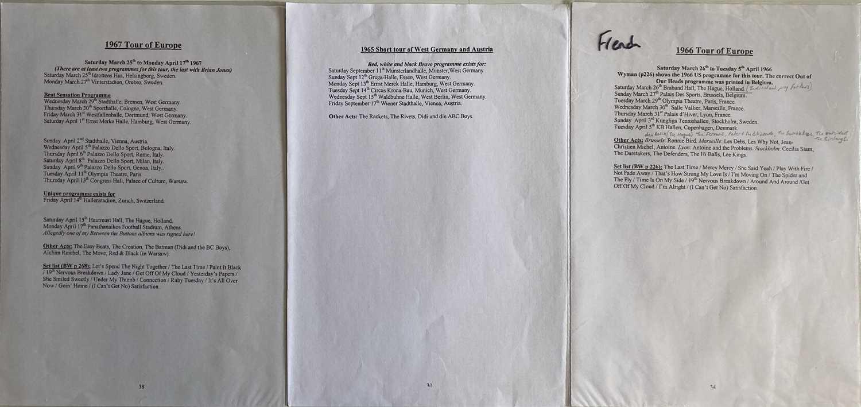 ROLLING STONES PROGRAMMES - EUROPE DATES 1966/67. - Image 2 of 2
