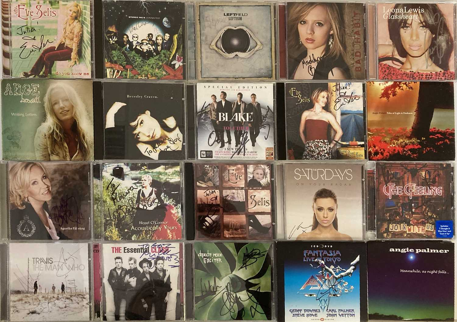 SIGNED CDS / LPS - THE CLASH / DEPECHE MODE AND MORE. - Image 8 of 12