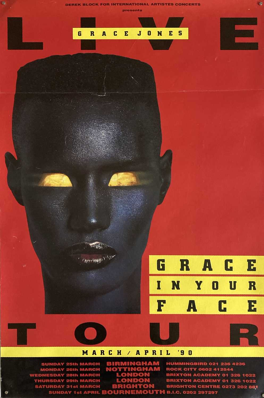 GRACE JONES IN YOUR FACE TOUR POSTER.