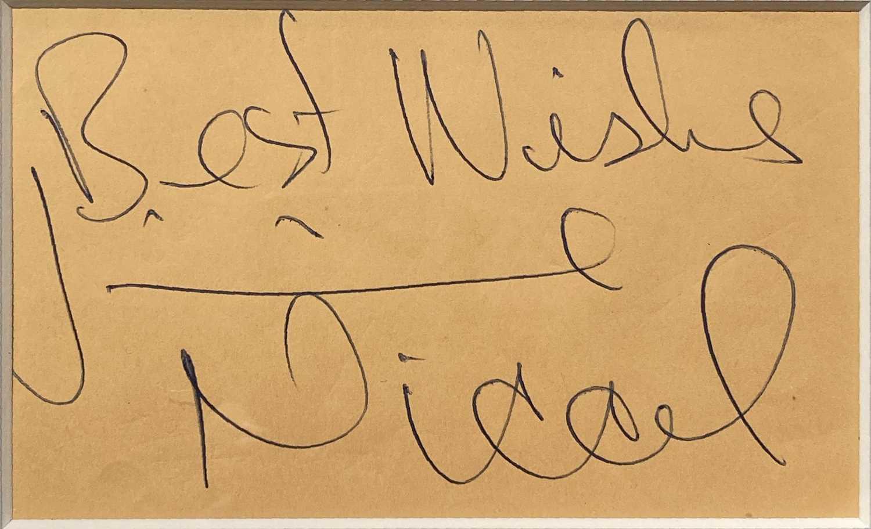 JIMMIE NICOL SIGNED DISPLAY. - Image 2 of 2