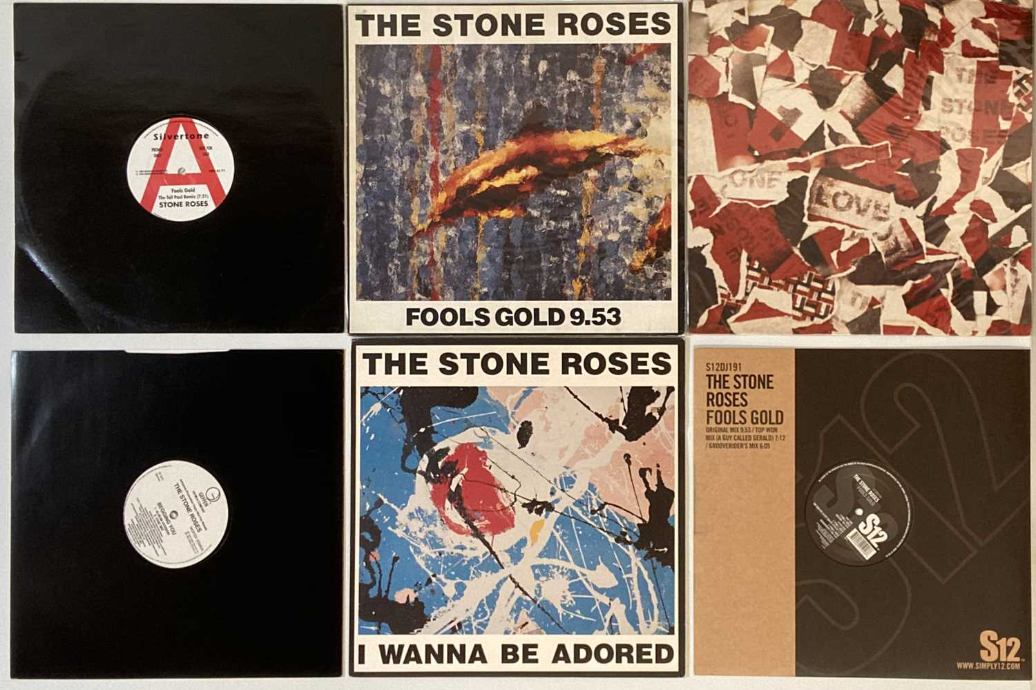 """STONE ROSES - 12""""/7"""" (WITH PROMOS)"""