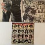 THE ROLLING STONES - STICKY FINGERS/EXILE/SOME GIRLS - ORIGINAL UK LPs