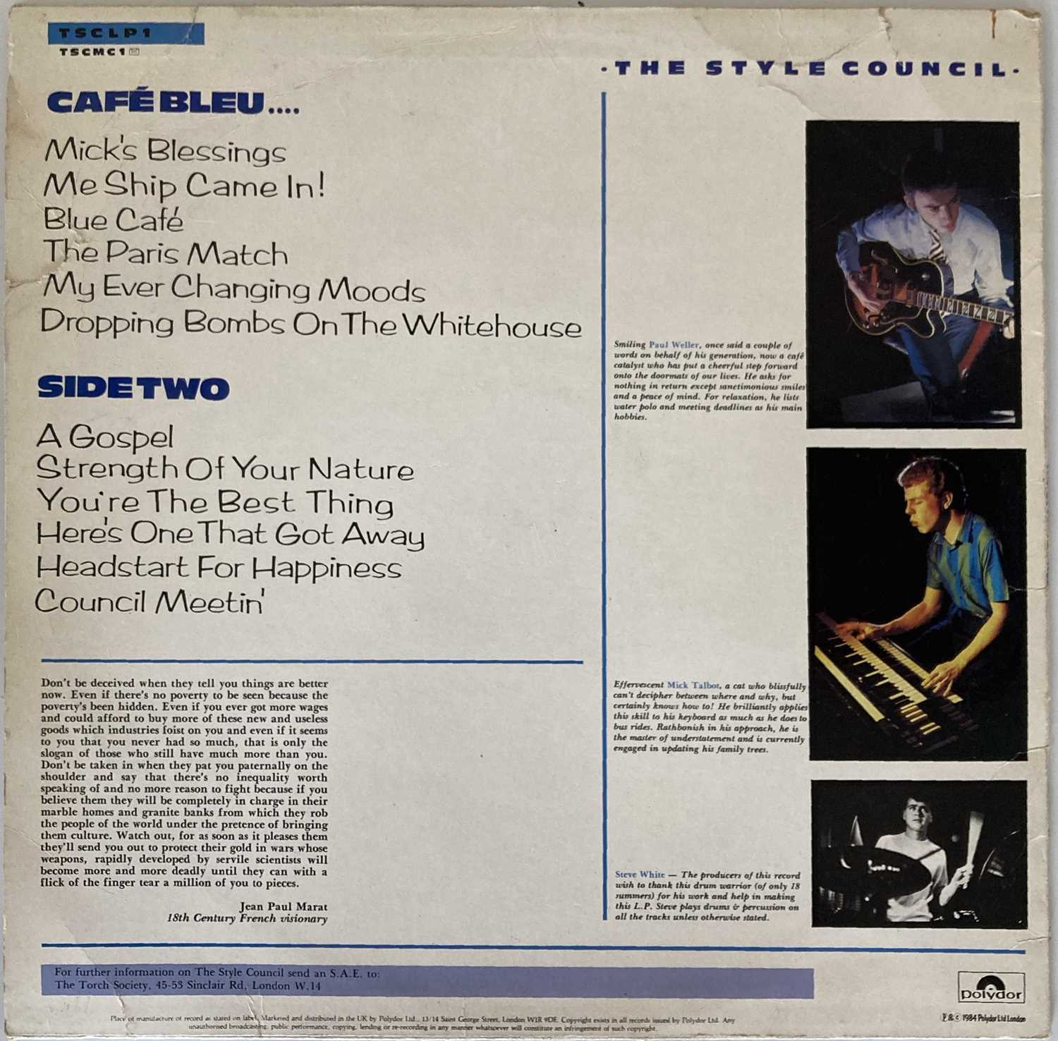 THE STYLE COUNCIL - SIGNED LPS. - Image 2 of 8