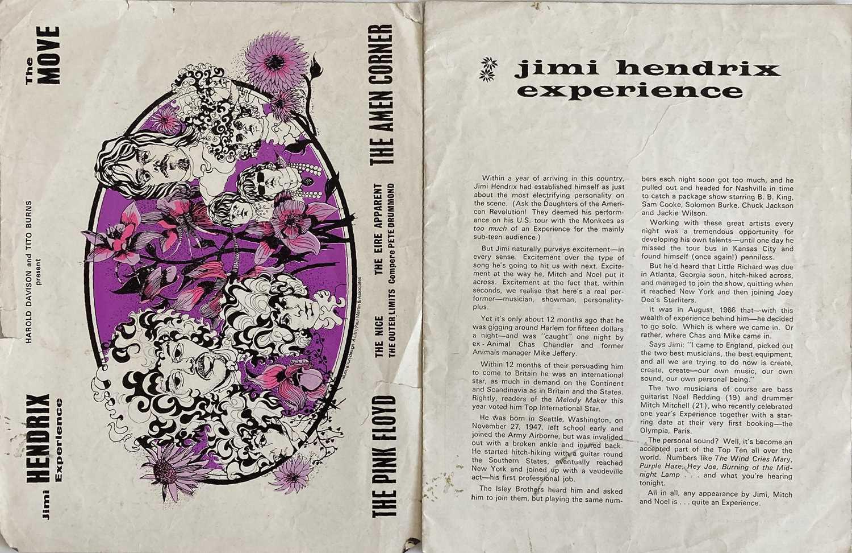 RARE CONCERT PROGRAMMES- JIMI HENDRIX / PINK FLOYD / T REX / DAVID BOWIE.