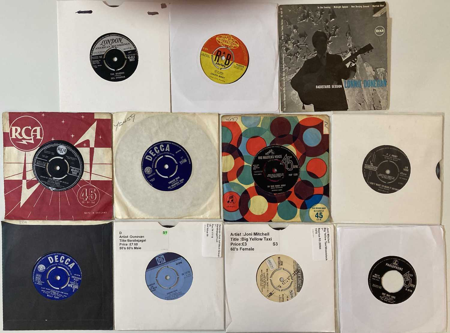 """50s/60s - ROCK & POP - 7"""" COLLECTION. - Image 2 of 5"""