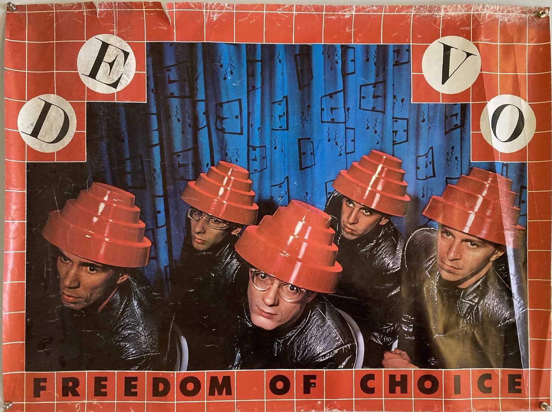DEVO FREEDOM OF CHOICE ORIGINAL POSTER.