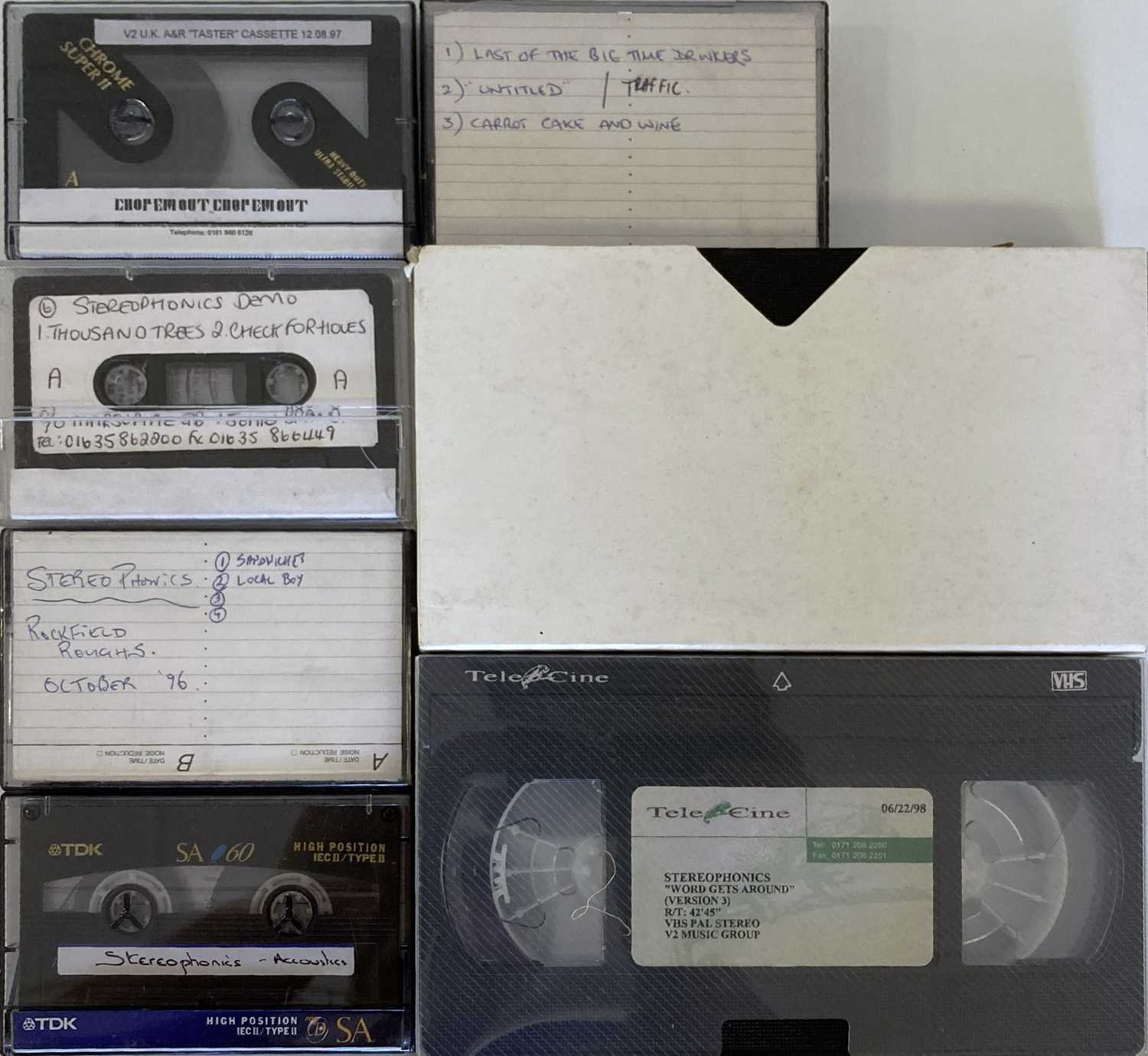 STEREOPHONICS 1990S PROMOTIONAL CASSETTES AND VHS. - Image 5 of 5