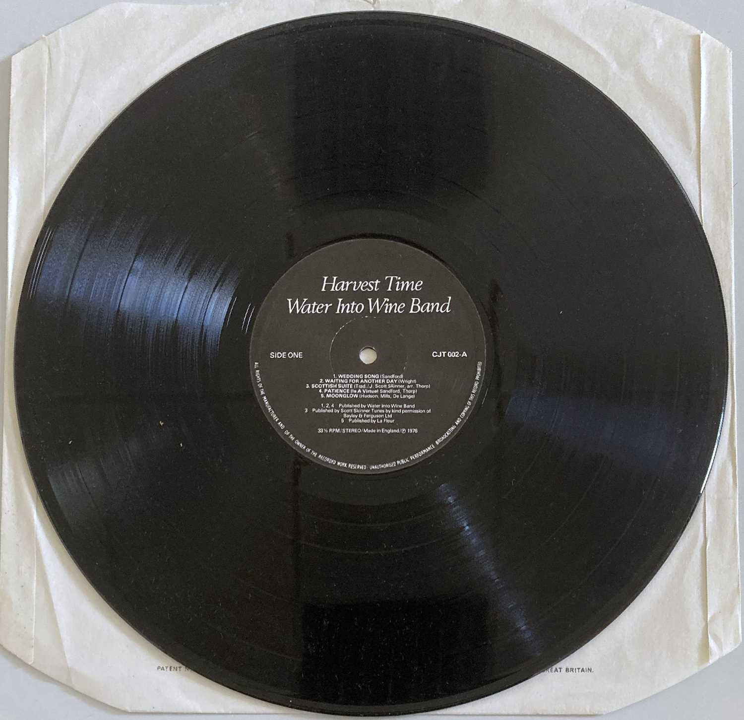 WATER INTO WINE BAND - HARVEST TIME LP (ORIGINAL SELF RELEASED PRESSING - CJT 002) - Image 4 of 4