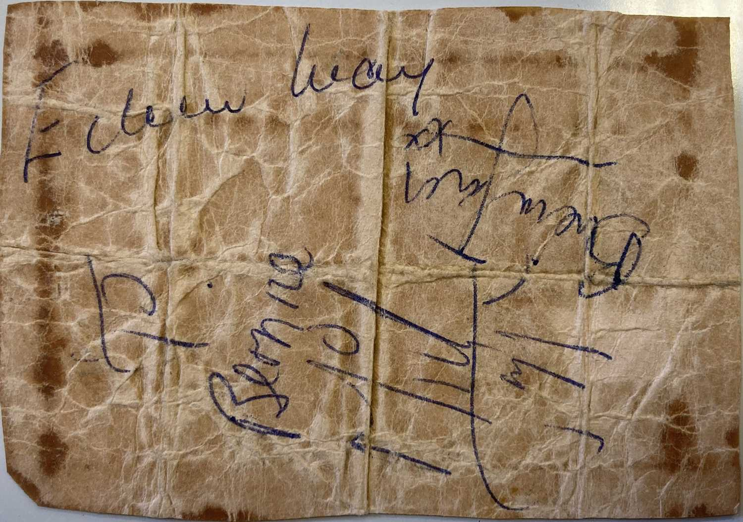 ROLLING STONES - SIGNED PAGE,