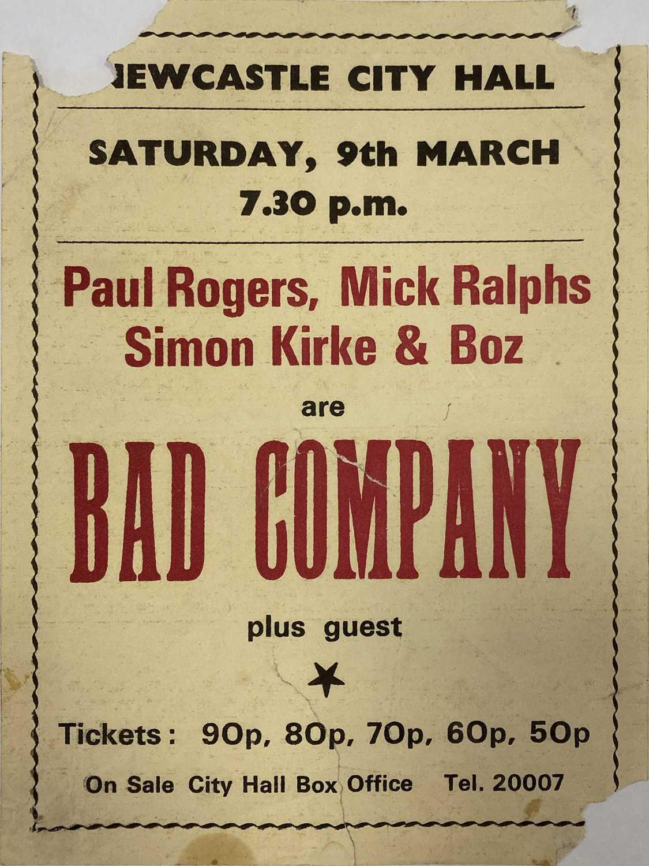 BAD COMPANY, PAUL KOSSOFF & BACK STREET CRAWLER FLYER / PROGRAMMES / PHOTOS & TICKET STUBS. - Image 2 of 7