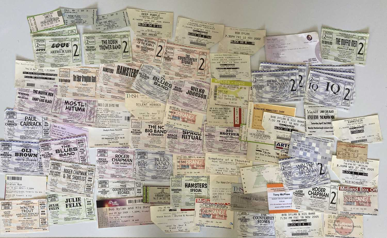 00s CONCERT TICKET ARCHIVE - SOME SIGNED. - Image 8 of 8