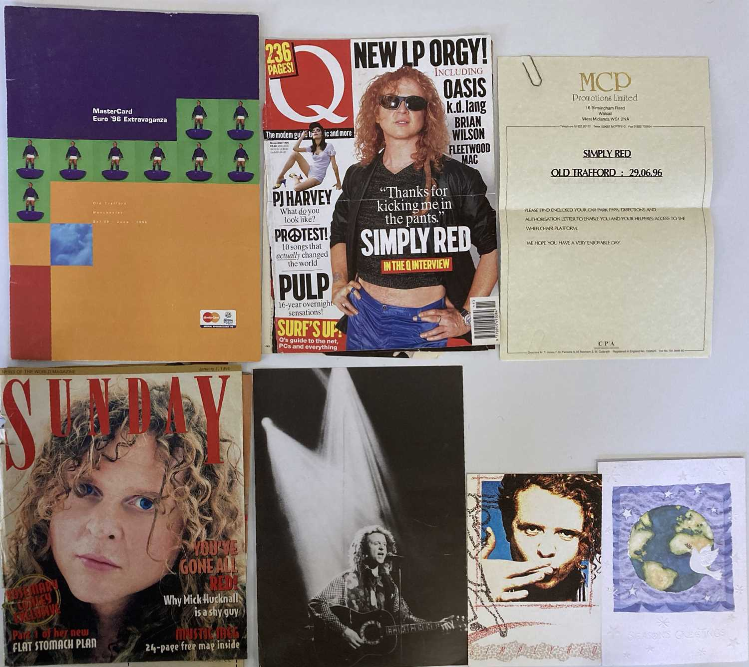 SIMPLY RED MEMORABILIA INC SIGNED ITEMS. - Image 10 of 15