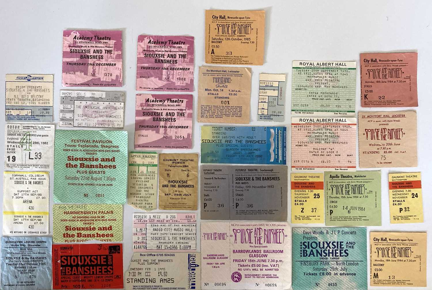 SIOUXSIE AND THE BANSHEES CONCERT TICKETS.