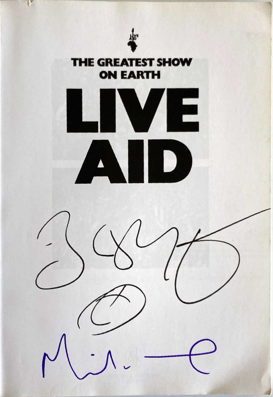 LIVE AID BOOK SIGNED BY BOB GELDOF / MIDGE URE. - Image 3 of 3