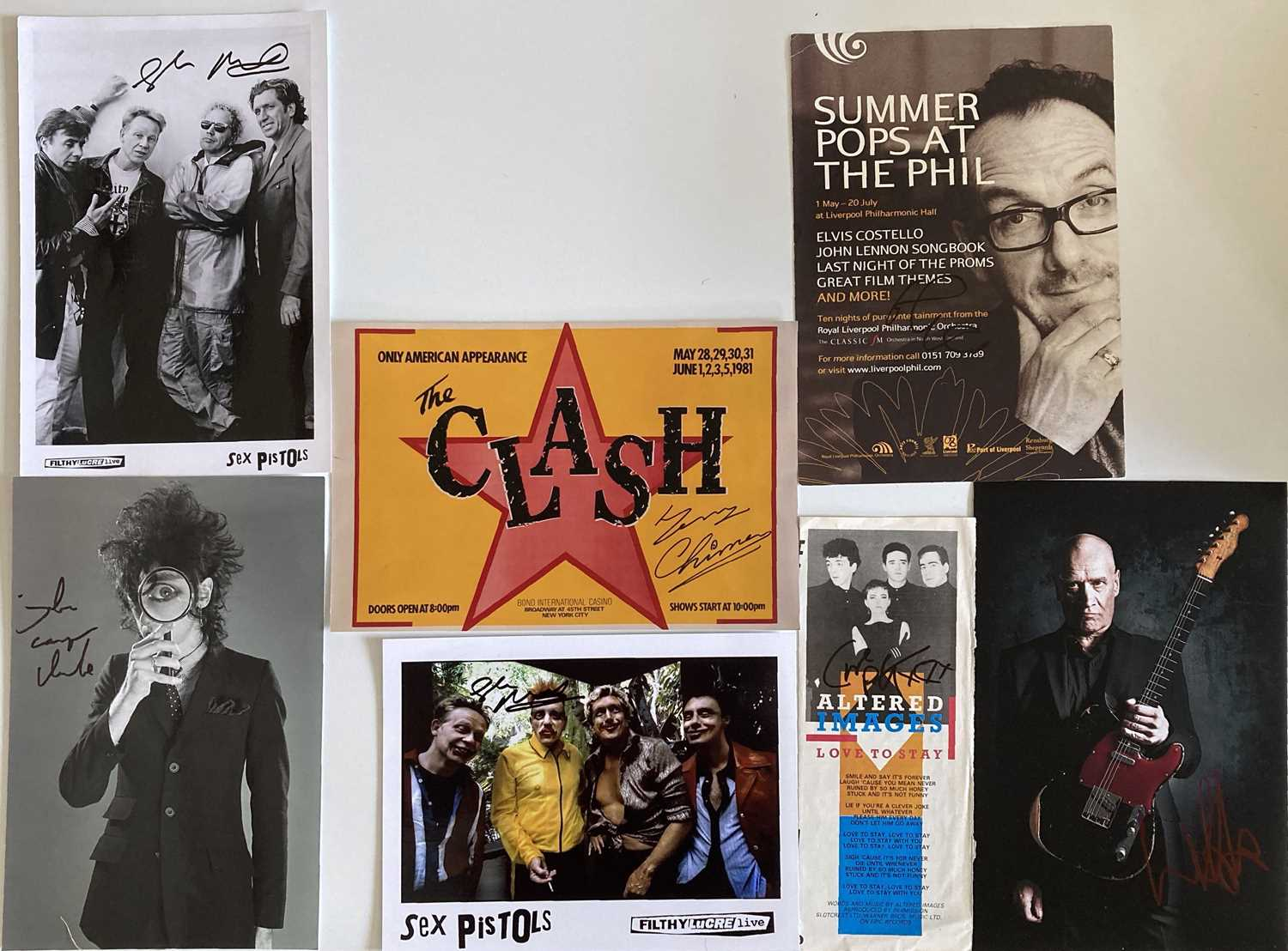 PUNK AND NEW WAVE SIGNED ITEMS.