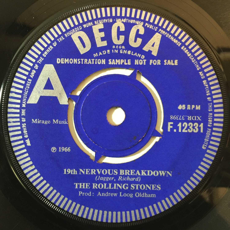 "THE ROLLING STONES - 19TH NERVOUS BREAKDOWN 7"" (ORIGINAL UK DEMO - DECCA F 12331) - Image 2 of 3"