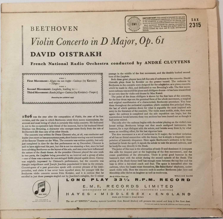 DAVID OISTRAKH - VIOLIN CONCERTO LP (UK STEREO - SAX 2315) - Image 2 of 4
