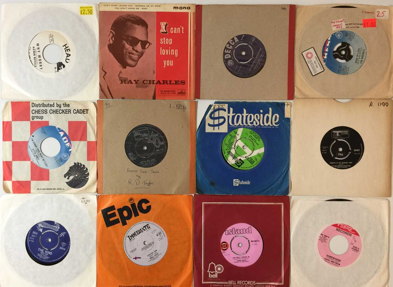 """60s/70s - 7"""" COLLECTION (POP/ROCK/SOUL) - Image 3 of 3"""
