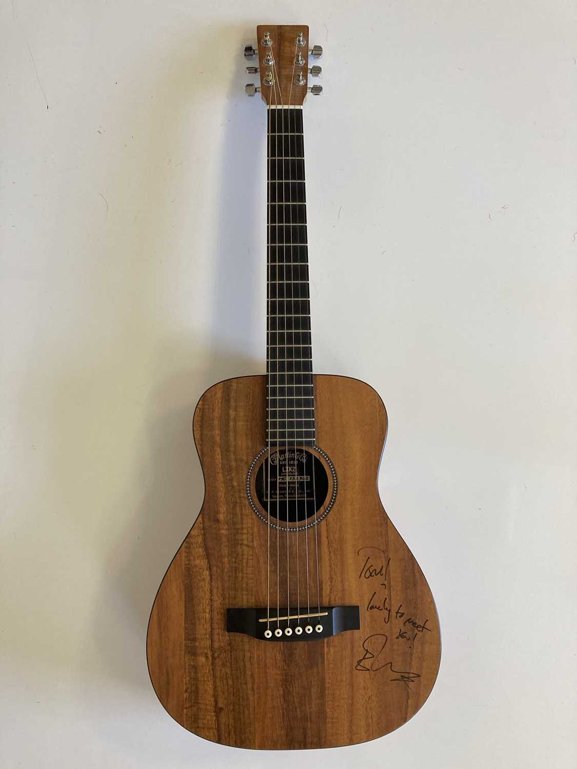 ED SHEERAN SIGNED AND USED GUITAR. - Image 7 of 7