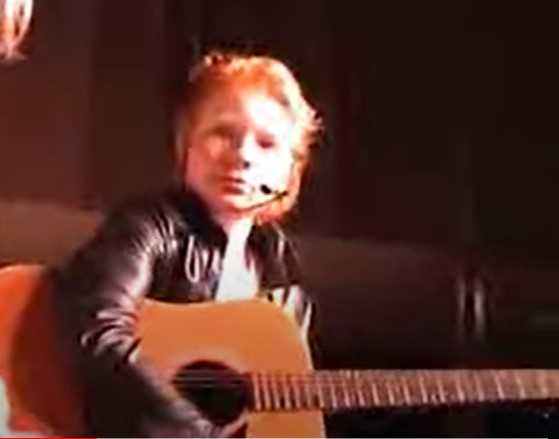 DVD FEATURING ED SHEERAN'S PERFORMANCE IN GREASE SCHOOL MUSICAL.
