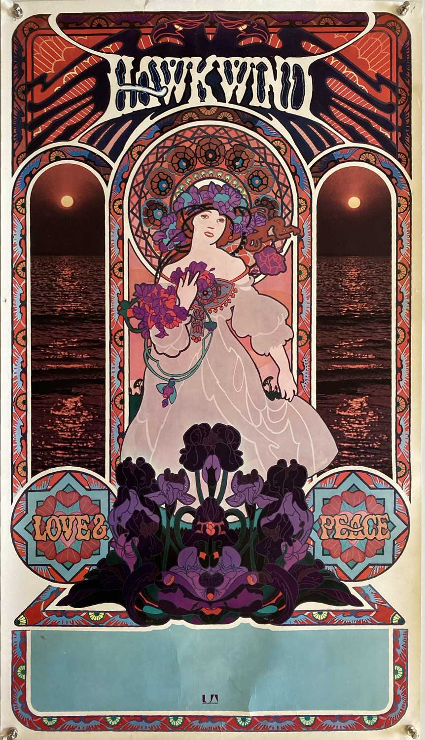 HAWKWIND - LOVE AND PEACE ORIGINAL POSTER.