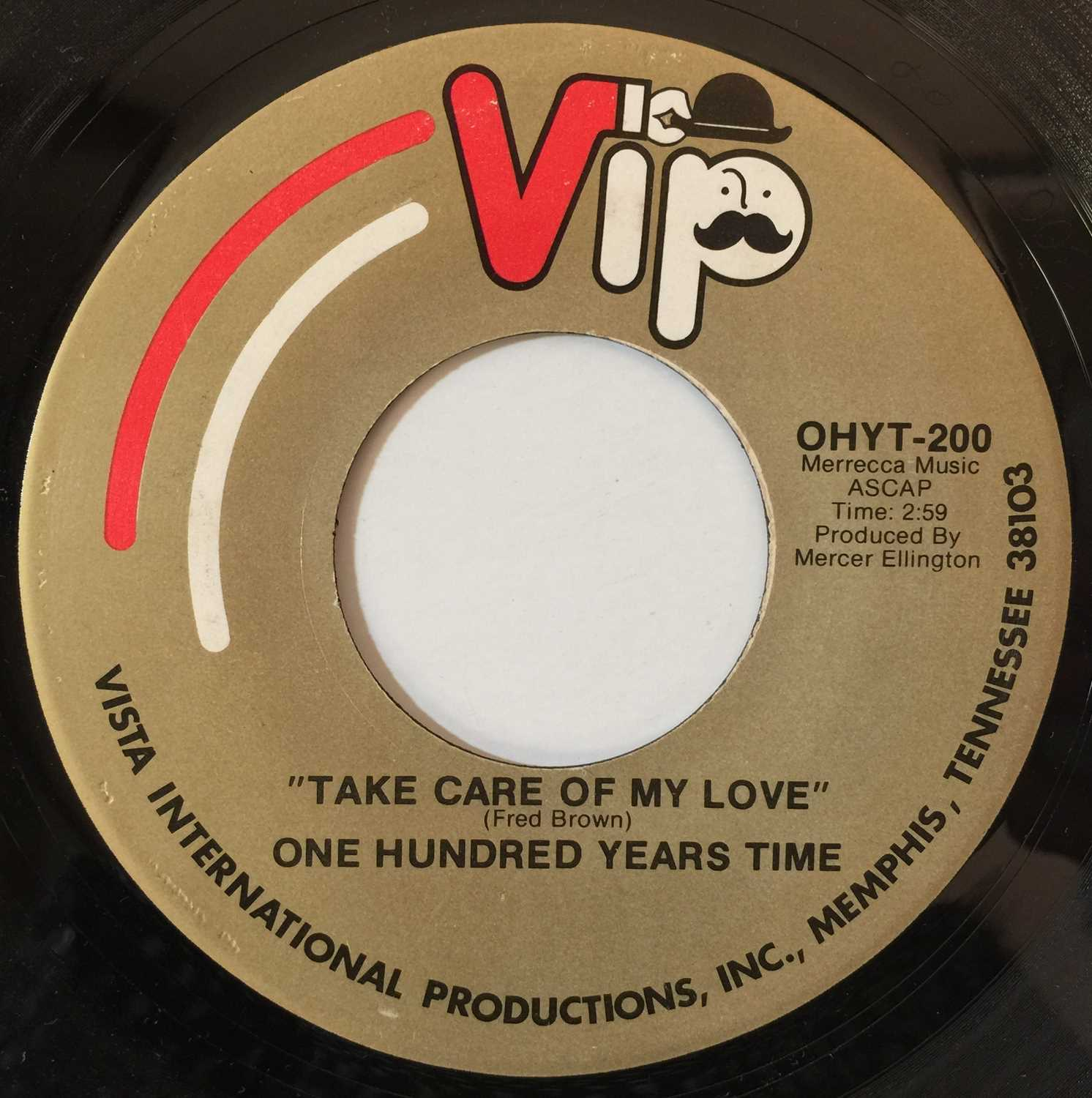 """ONE HUNDRED YEARS TIME - IF IT'S FEELING YOU WANT 7"""" (VIP RECORDS - OHYT-100/200) - Image 3 of 3"""