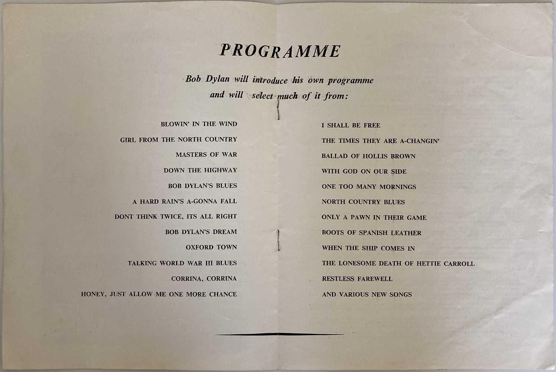 CONCERT PROGRAMMES TO INC BOB DYLAN 1964 FESTIVAL HALL. - Image 5 of 8