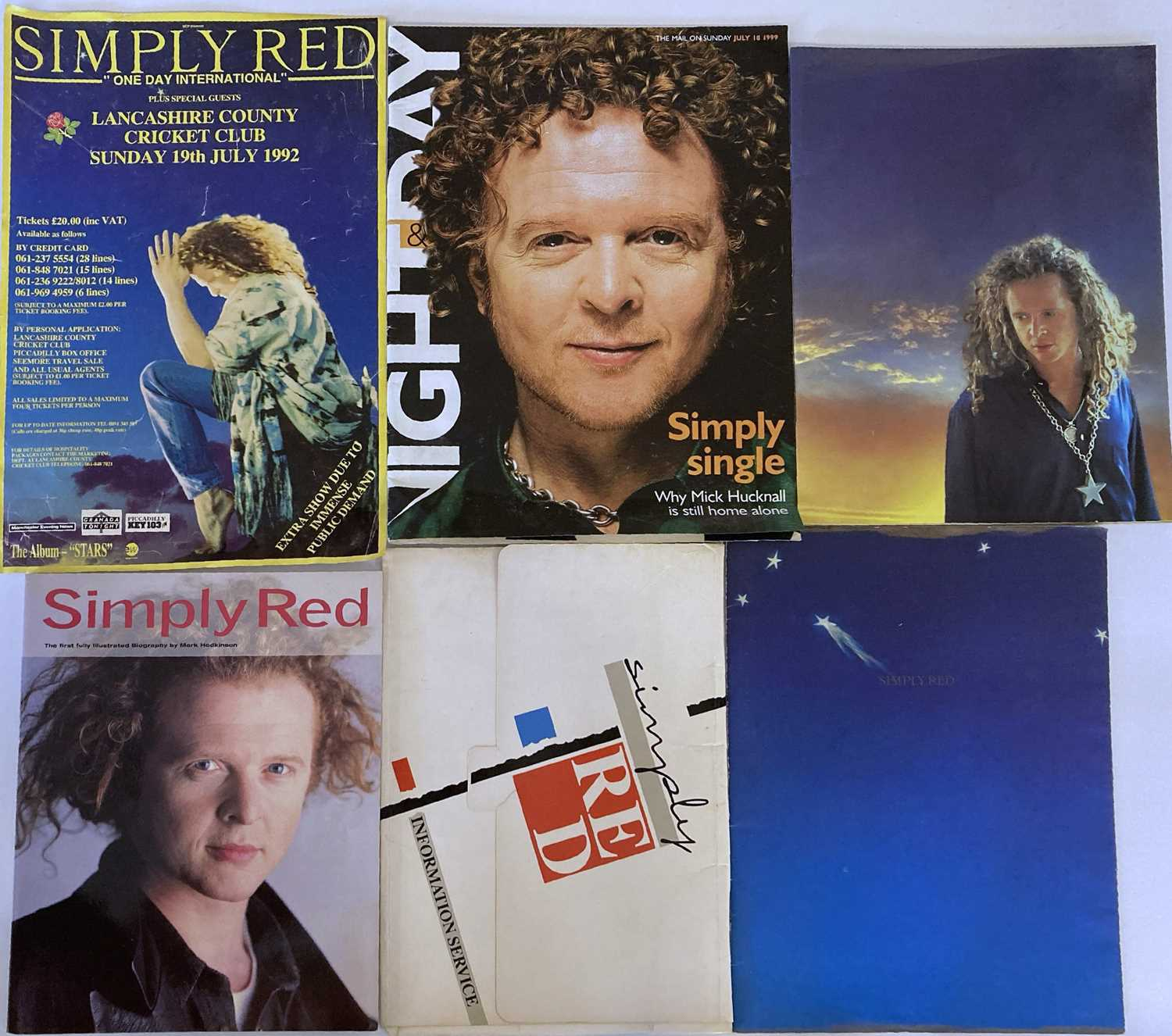 SIMPLY RED MEMORABILIA INC SIGNED ITEMS. - Image 9 of 15