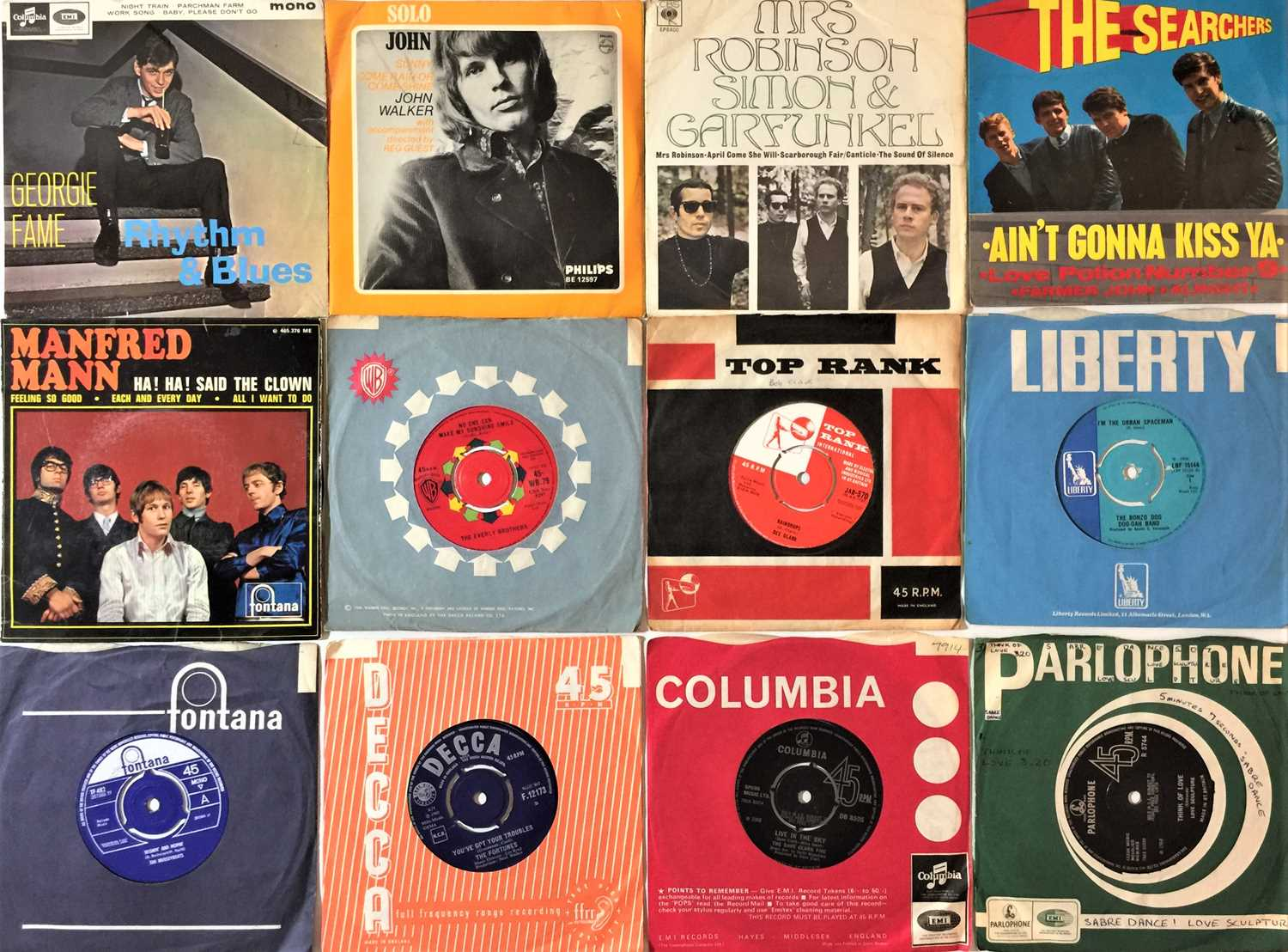 """CLASSIC ROCK & POP 7""""/EP COLLECTION (60s/90s)"""