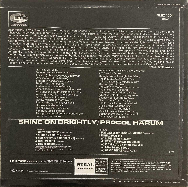 PROCOL HARUM - SHINE ON BRIGHTLY LP (ORIGINAL UK PRESSING - REGAL ZONOPHONE SLRZ 1004) - Image 2 of 4