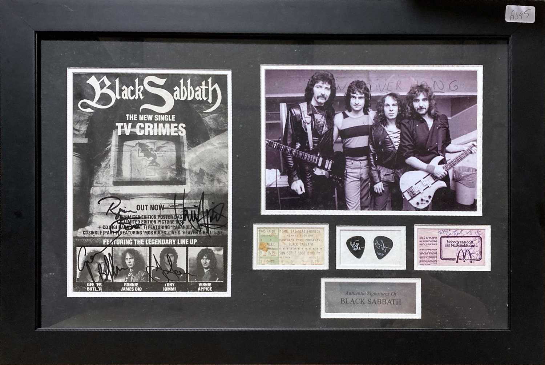 BLACK SABBATH SIGNED FLYER / TICKET STUB.