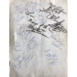 SOUL / DOO WOP STARS SIGNED PAGE - JACKIE WILSON AND MORE.